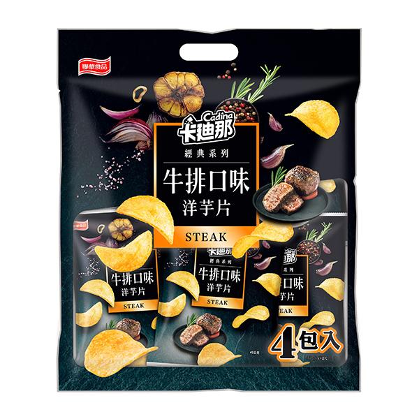 ★特價出清★卡迪那-牛排口味洋芋片量販袋(45gx4包)