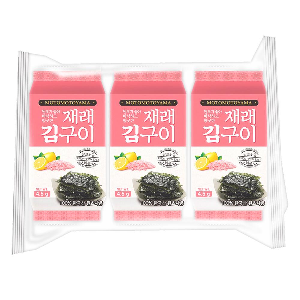 元本山朝鮮海苔-檸檬玫瑰鹽風味