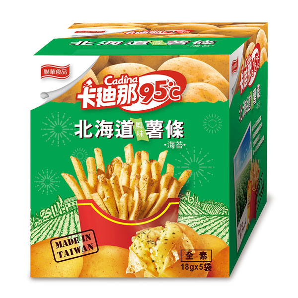 卡廸那95℃薯條-海苔風味(18gx5包)