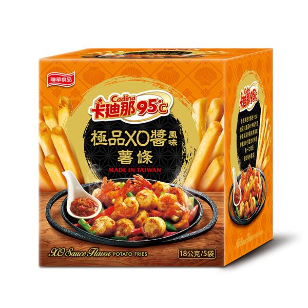卡迪那95℃薯條-極品XO醬風味(18gx5包),,★鮮美干貝香氣★奢華享受,U00500001,卡迪那95℃薯條-極品XO醬風味(18gx5包),