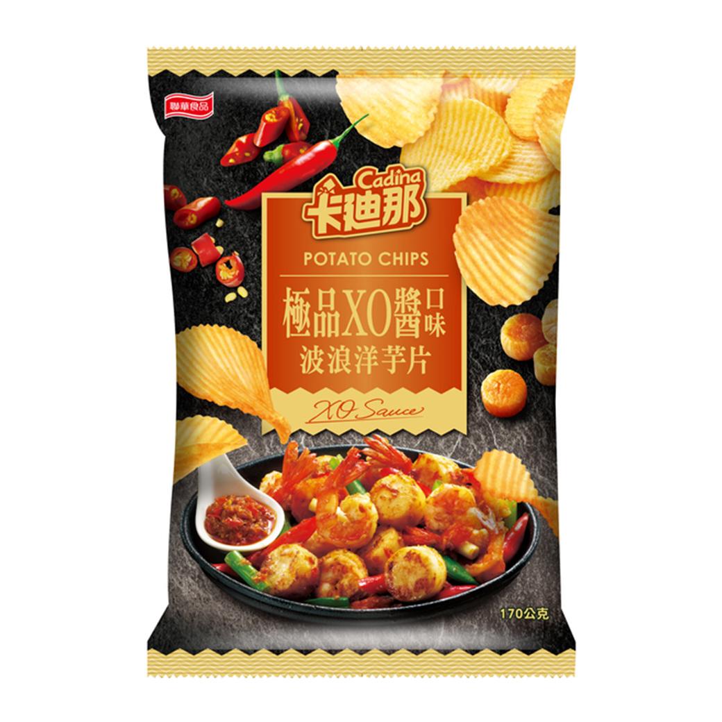 卡迪那-波浪洋芋片極品XO醬口味(170g)