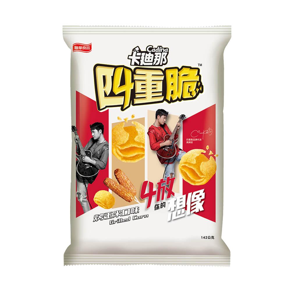 卡迪那-四重脆烤玉米口味(142g),,★兩款包裝★隨機出貨,U02520001,卡迪那-四重脆烤玉米口味(142g),