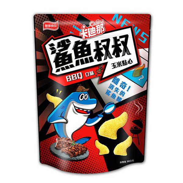 卡迪那-鯊魚叔叔玉米點心-BBQ口味