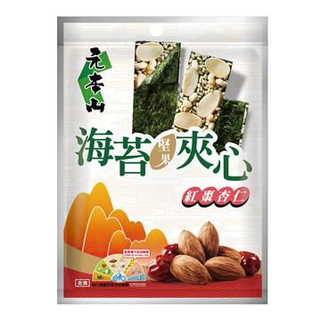 海苔堅果夾心-紅棗杏仁-元本山