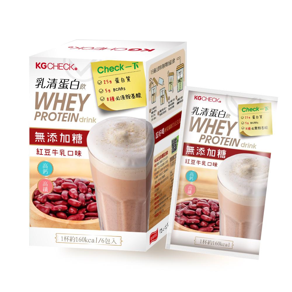 KG乳清蛋白飲-紅豆牛乳口味(43gx6包)