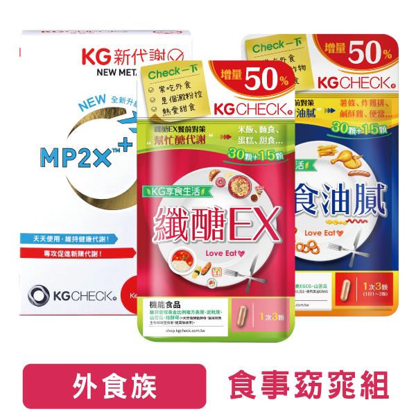 少動多吃【必備】新代謝膠囊+纖醣EX+外食油膩對策